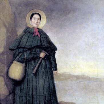 Portrait of Mary Anning - The Fossil Hunter